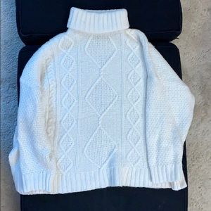 White/ cream aerie turtleneck sweater